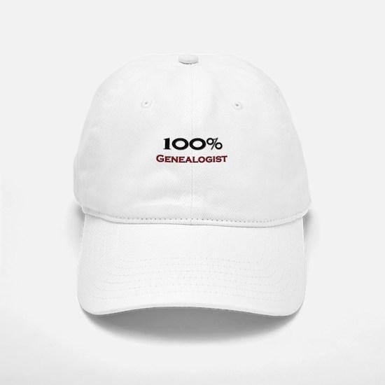 100 Percent Genealogist Baseball Baseball Cap