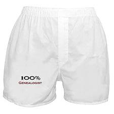 100 Percent Genealogist Boxer Shorts