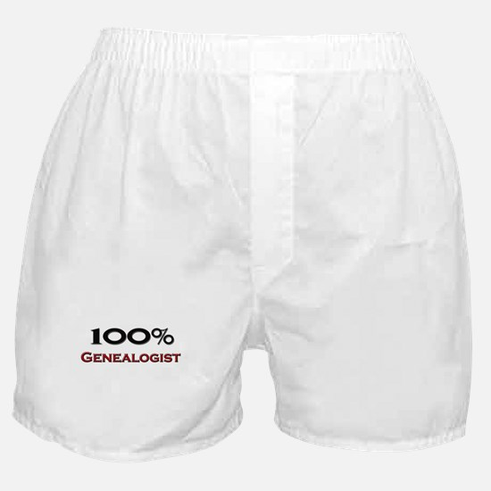 100 Percent Genealogist Boxer Shorts