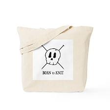 Born to Knit - Pirate Skull Tote Bag
