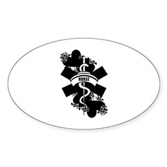 Nurse Heart Tattoo Decal