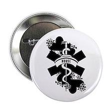 """Nurse Heart Tattoo 2.25"""" Button (10 pack)"""