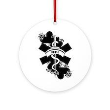 Nurse Heart Tattoo Ornament (Round)