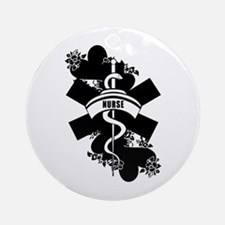 Nurse Heart Tattoo Ornament (Round)