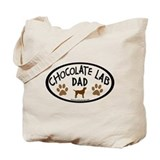 Chocolate lab dad Bags & Totes