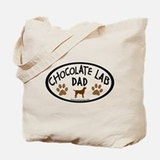 Chocolate Lab Dad Tote Bag
