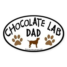 Chocolate Lab Dad Oval Decal