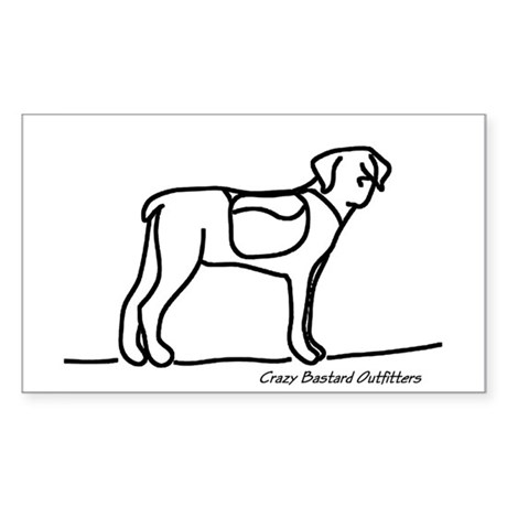 Hiking Dog Rectangle Sticker