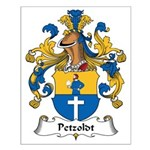 Petzoldt Family Crest Small Poster