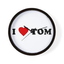 I Love [Heart] Tom Wall Clock