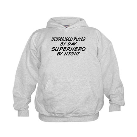 Didgeridoo Superhero by Night Kids Hoodie