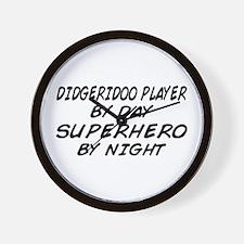 Didgeridoo Superhero by Night Wall Clock