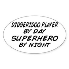 Didgeridoo Superhero by Night Oval Decal