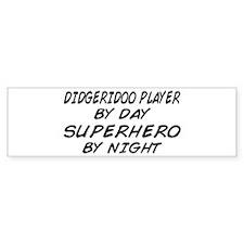 Didgeridoo Superhero by Night Bumper Bumper Sticker
