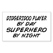 Didgeridoo Superhero by Night Rectangle Decal