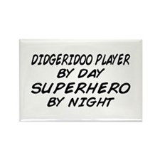 Didgeridoo Superhero by Night Rectangle Magnet