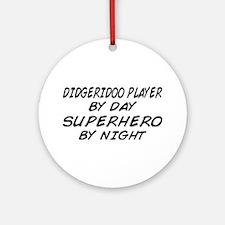 Didgeridoo Superhero by Night Ornament (Round)