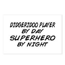 Didgeridoo Superhero by Night Postcards (Package o