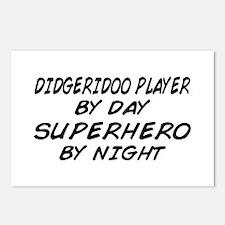 Didgeridoo Superhero by Night Postcards (Package o