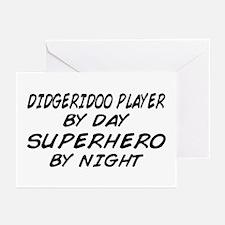 Didgeridoo Superhero by Night Greeting Cards (Pk o
