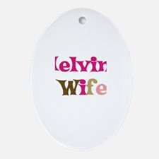 Melvin's Wife Oval Ornament