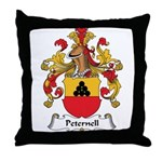 Peternell Family Crest Throw Pillow