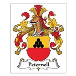 Peternell Family Crest Small Poster