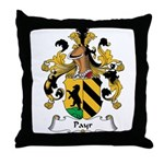 Payr Family Crest Throw Pillow