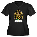Payr Family Crest Women's Plus Size V-Neck Dark T-