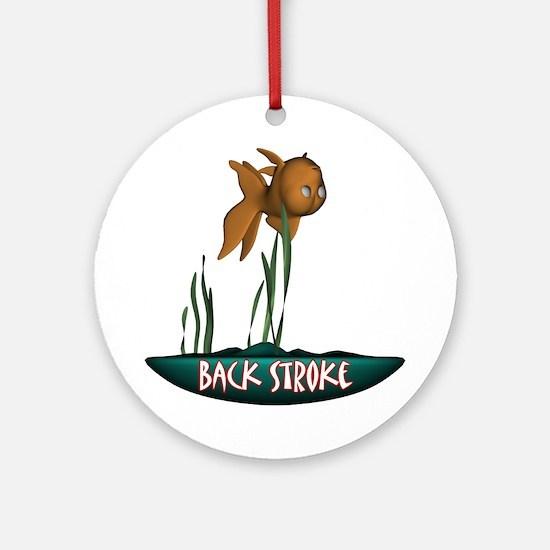 Back Stroke Ornament (Round)