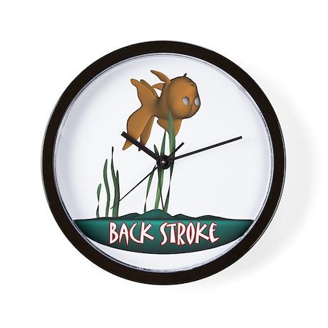 Back Stroke Wall Clock