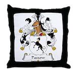 Passow Family Crest Throw Pillow