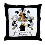 Parlow Family Crest Throw Pillow