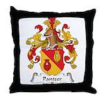 Pantzer Family Crest Throw Pillow