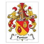 Pantzer Family Crest Small Poster
