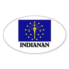 Indianan Oval Decal
