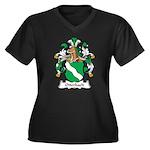 Otterbach Family Crest Women's Plus Size V-Neck Da