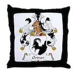 Ortner Family Crest Throw Pillow