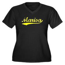 Vintage Marisa (Gold) Women's Plus Size V-Neck Dar