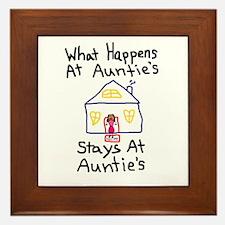 Auntie's House Framed Tile