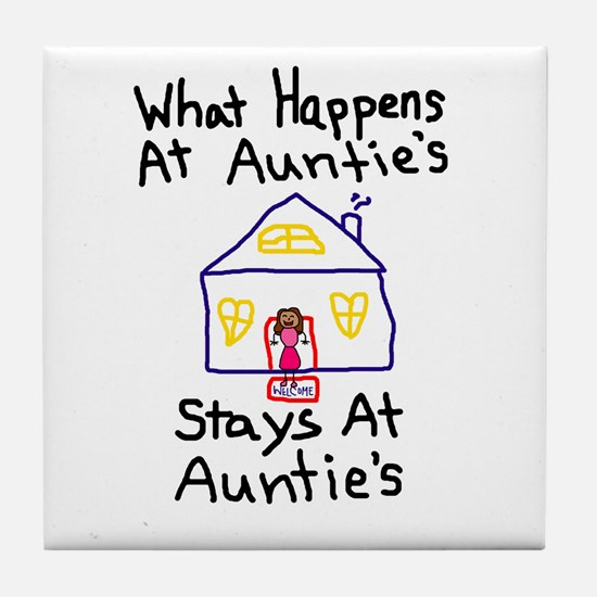 Auntie's House Tile Coaster