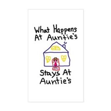 Auntie's House Rectangle Decal