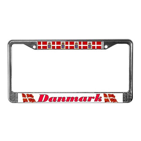 Danmark License Plate Frame