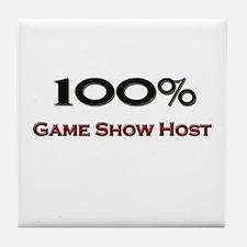 100 Percent Game Show Host Tile Coaster