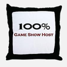 100 Percent Game Show Host Throw Pillow