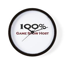 100 Percent Game Show Host Wall Clock