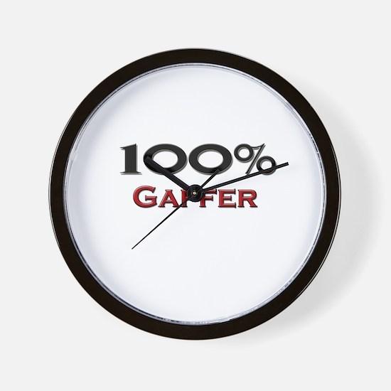 100 Percent Gaffer Wall Clock
