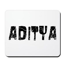 Aditya Faded (Black) Mousepad