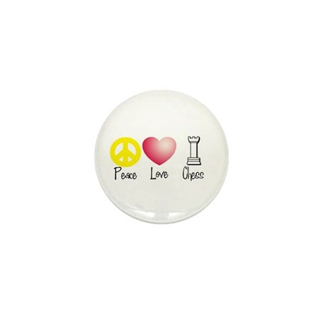 Peace, Love, Chess Mini Button (100 pack)