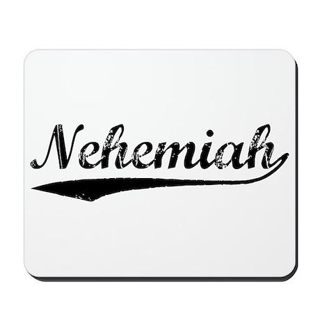 Vintage Nehemiah (Black) Mousepad